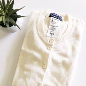 Patagonia Cream Organic Cotton Cardigan Large